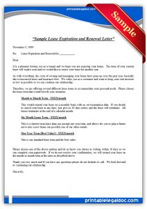 lease renewal form sample lease expiration and renewal letter standard