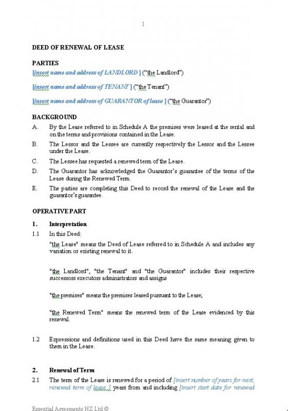 Lease Renewal Letter  Template Business
