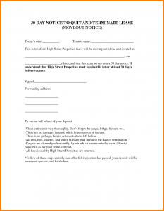 lease termination letter landlord to tenant day notice to move out template day move out notice template
