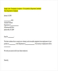 lease termination letter to landlord voluntary termination letter format