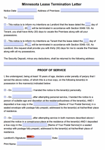 lease termination letter to tenant minnesota day notice to quit tenancy at will x