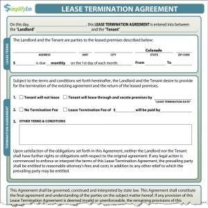 lease termination notice colorado lease termination screenshot