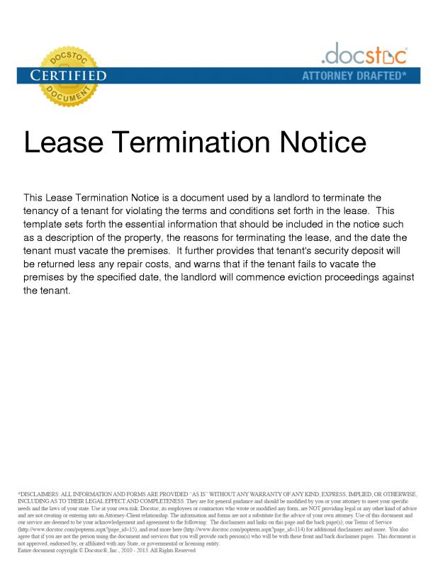 lease termination notice
