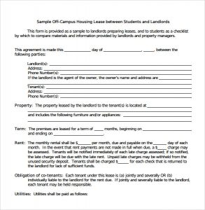 leasing agreement pdf standard house lease agreement