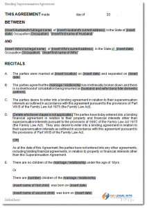 legal agreement template superannuation agreement sample