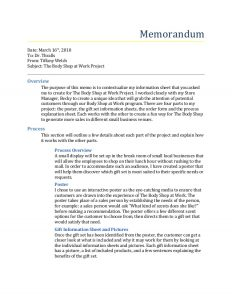 legal agreement template the body shop at work project summary memo
