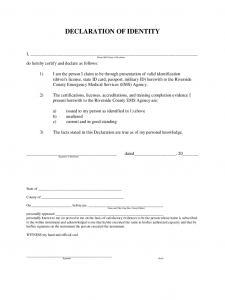 legal contract example declaration of identity form d
