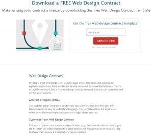 legal contract templates where to find web design contract templates for web design projects bidsketch