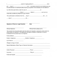 legal guardian form minor child medical consent form x