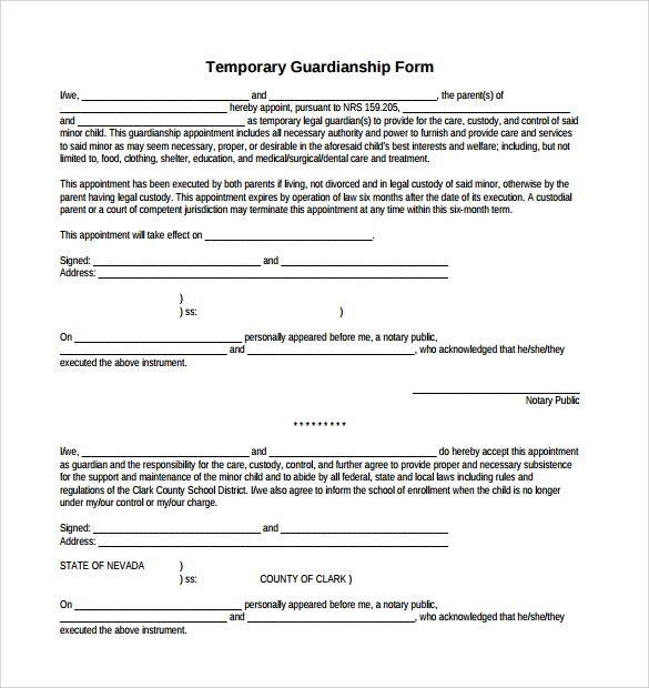 legal guardianship papers