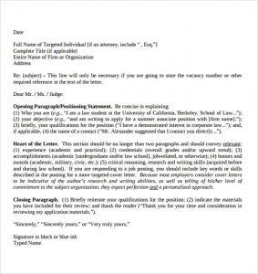 legal letter format basic legal letter format