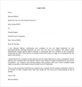 legal letter format download legal letter template microsoft word format