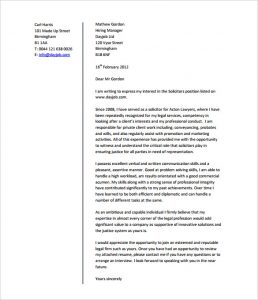 legal letter format legal job cover letter template example pdf format