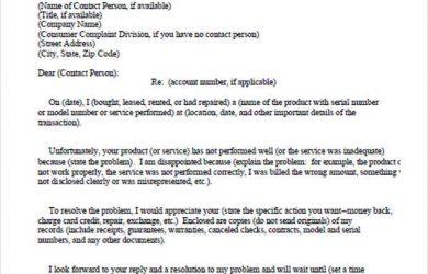 legal letter template legal complaint letter format