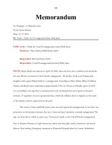 legal memorandum example unit final project and internal memo of law instructions