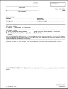 legal separation papers formb