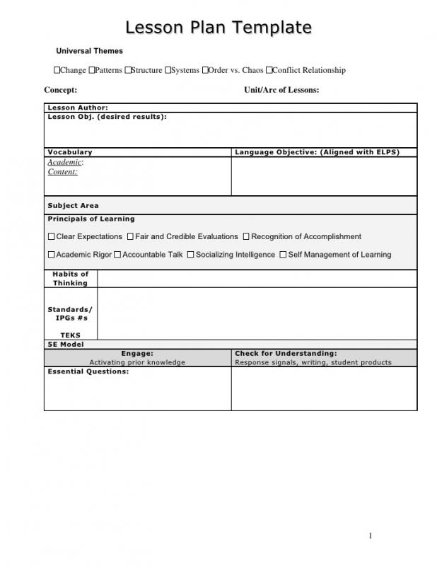 outline of a lesson plan template - lesson plan outline template business