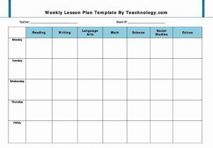 Lesson Plan Template For Preschool Template Business - Preschool weekly lesson plan template