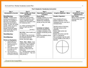 lesson plan template for preschool charlotte danielson lesson plan template
