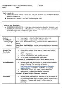 lesson plan template pdf common core history lesson plan