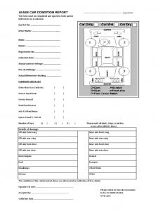 lesson plan template pdf lease car condition report form d