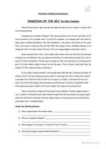 lesson plan template pdf magician of the sea reading comprehension story flashcards fun activities games picture descriptio