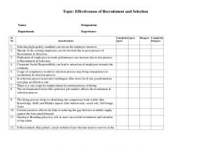 lesson plan template pdf questionnaire recruitment selection