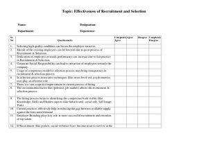 lesson plan template pdf questionnaire recruitment selection