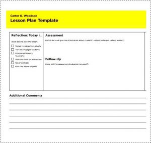 lesson plan template pdf simple lesson plan template for teachers