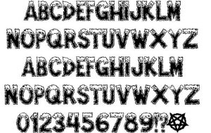 letter fonts tattoo ampefe specimen