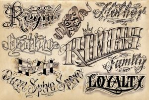 letter fonts tattoo letter tattoos