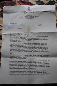letter for immigration dsc
