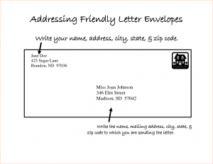letter format mail letter address format