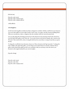 letter format mail lt