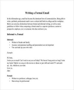 letter format mail mail letter format example