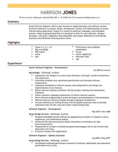 letter formats templates software engineer resume full