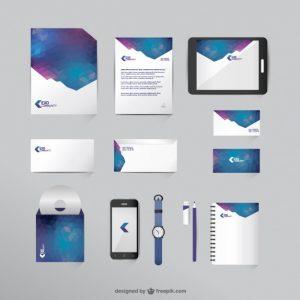 letter head format free mock up business vector set