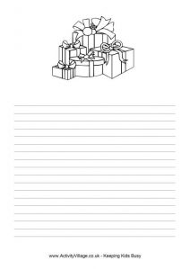 letter headed templates christmas gifts writing paper