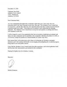 letter od demand resignation letter sample