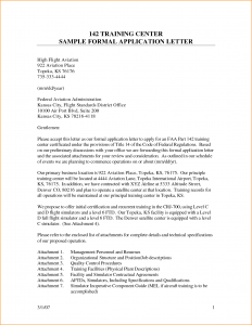 letter of application sample formal application letter format
