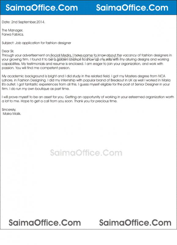 letter of applications examples