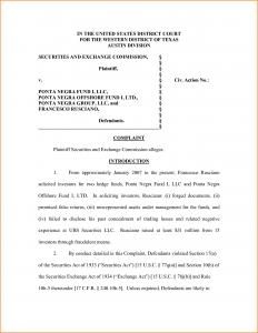 letter of complaint samples legal complaint template