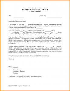 letter of employment offer job offer email sample