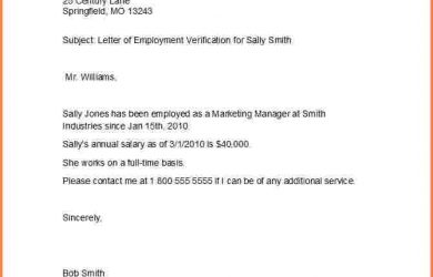 letter of employment sample letter of employment template proof of employment letter