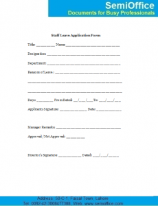 letter of eviction employee leave application form sample