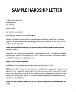 letter of hardship hardship letter for loan modification template
