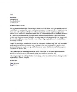 letter of hardship hardship letter template