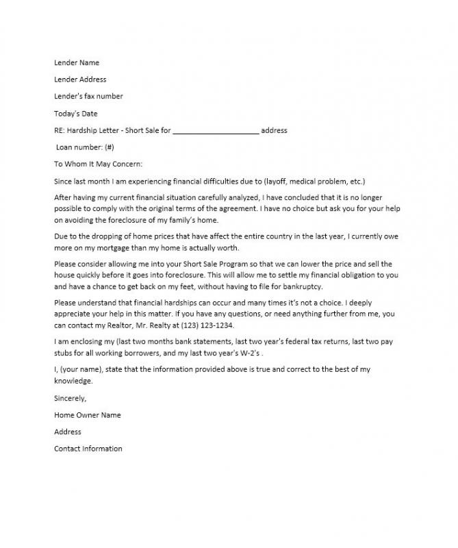 economic hardship letter - Tikir.reitschule-pegasus.co