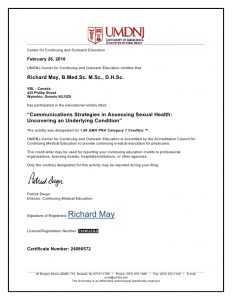 letter of harship letter and certificate of completion communications strategies in assessing sexual health uncovering an underlying condition