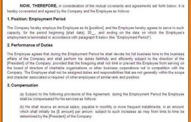 letter of intent for business dental nurse contract of employment template employment agreement template